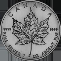 zilveren maple leaf
